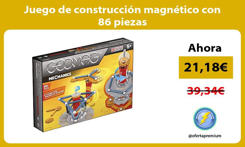 Juego de construcción magnético con 86 piezas