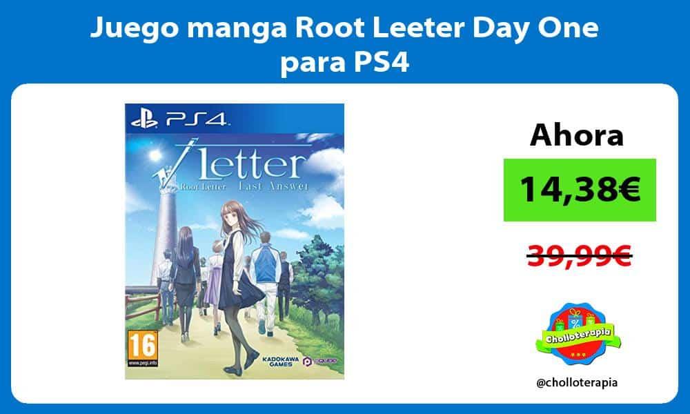 Juego manga Root Leeter Day One para PS4