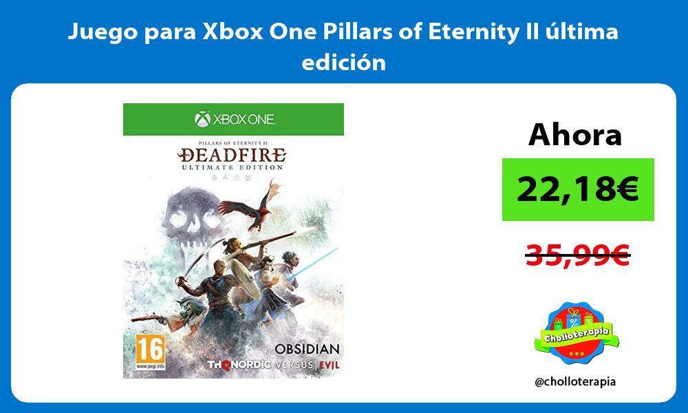 Juego para Xbox One Pillars of Eternity II última edición