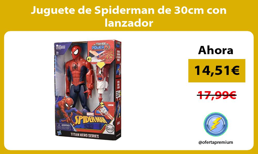 Juguete de Spiderman de 30cm con lanzador