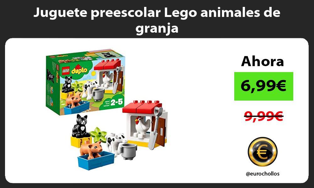 Juguete preescolar Lego animales de granja