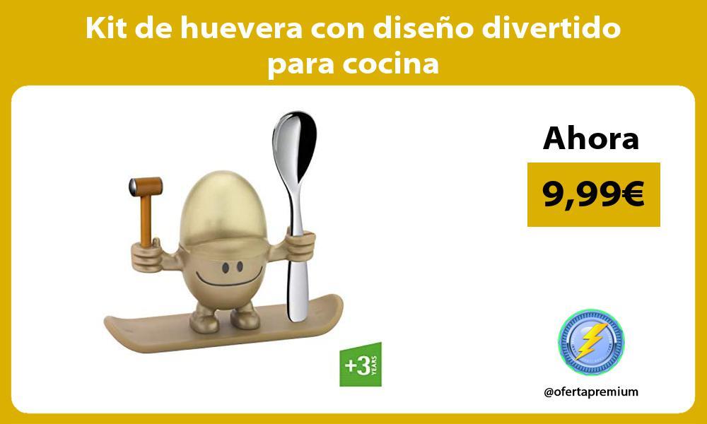 Kit de huevera con diseño divertido para cocina
