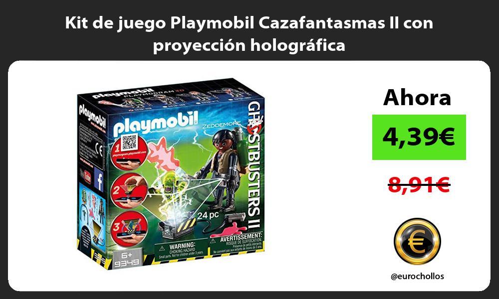 Kit de juego Playmobil Cazafantasmas II con proyección holográfica
