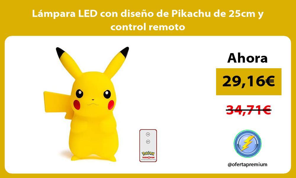 Lámpara LED con diseño de Pikachu de 25cm y control remoto