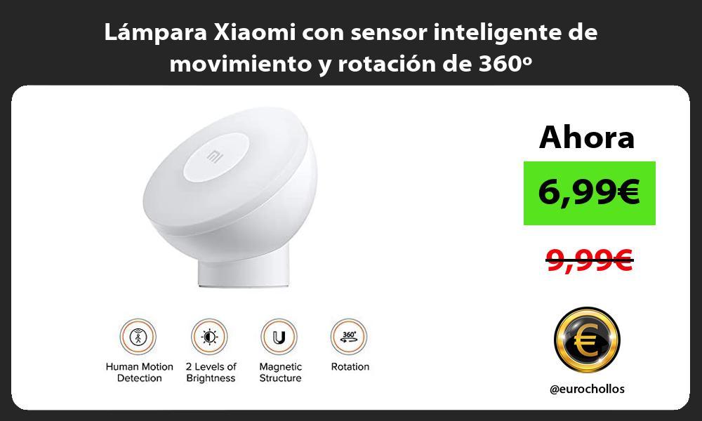 Lámpara Xiaomi con sensor inteligente de movimiento y rotación de 360º