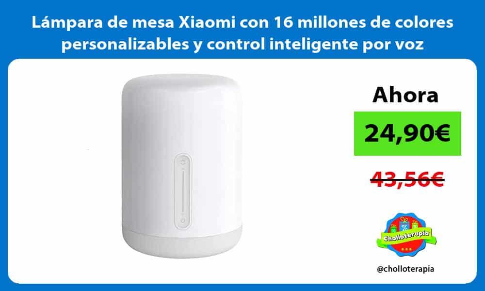 Lámpara de mesa Xiaomi con 16 millones de colores personalizables y control inteligente por voz
