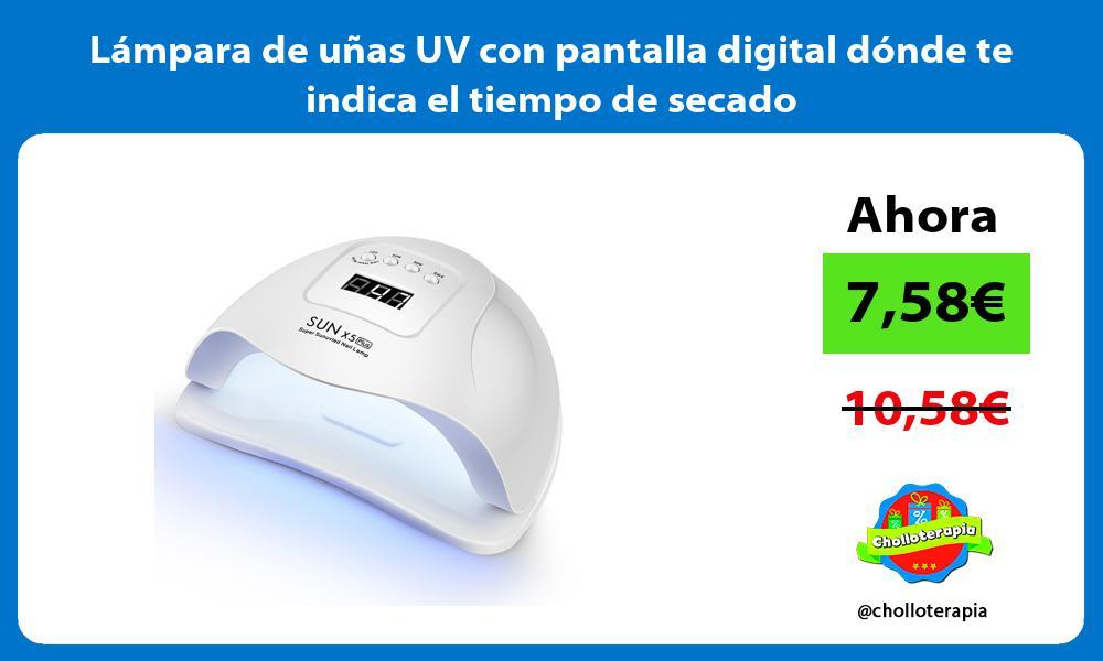 Lámpara de uñas UV con pantalla digital dónde te indica el tiempo de secado