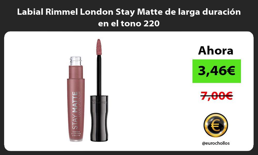 Labial Rimmel London Stay Matte de larga duración en el tono 220