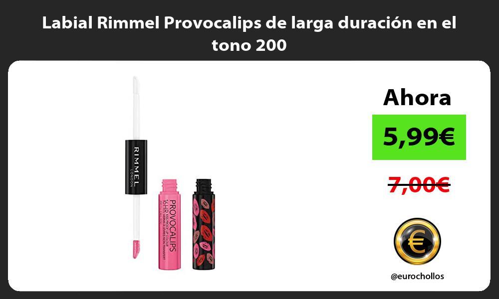 Labial Rimmel Provocalips de larga duración en el tono 200