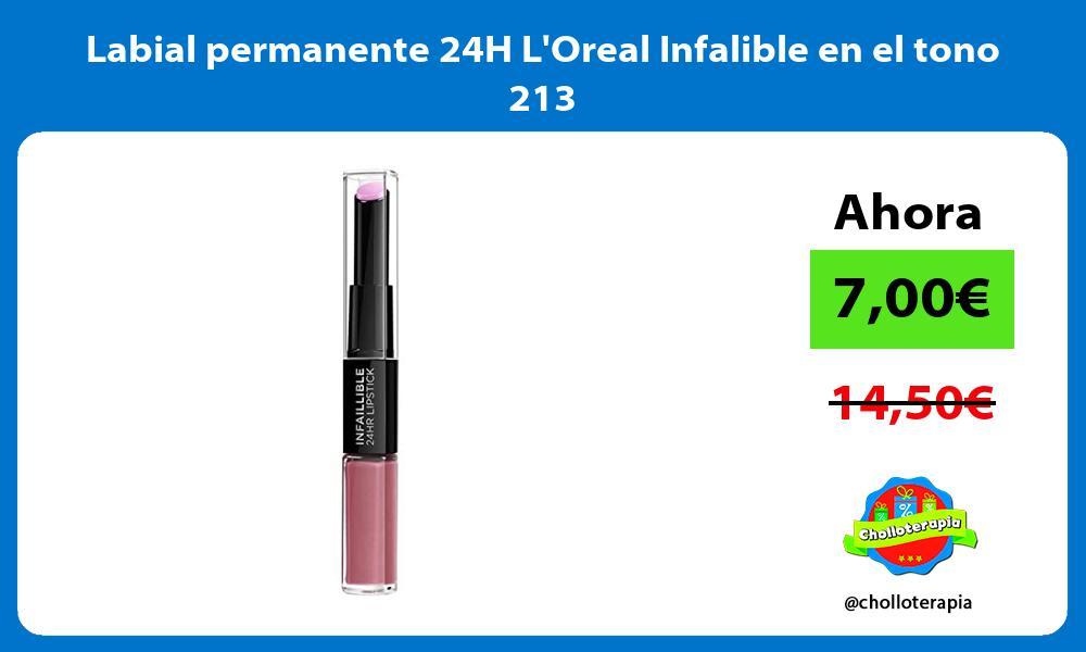 Labial permanente 24H LOreal Infalible en el tono 213