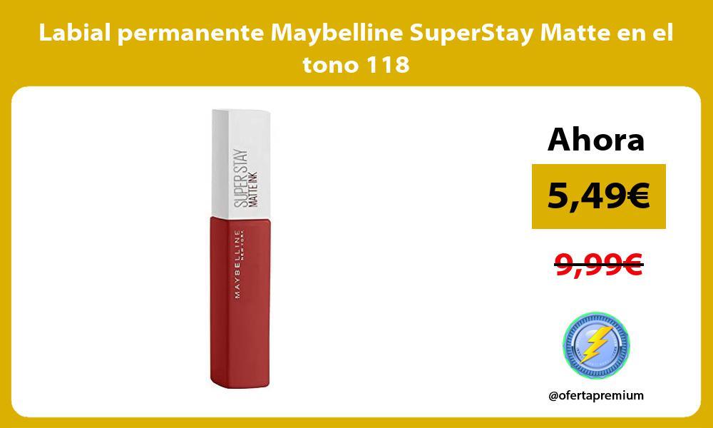 Labial permanente Maybelline SuperStay Matte en el tono 118