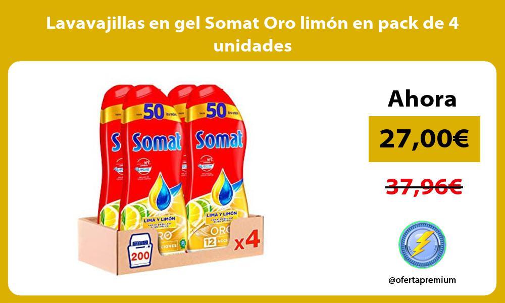 Lavavajillas en gel Somat Oro limón en pack de 4 unidades