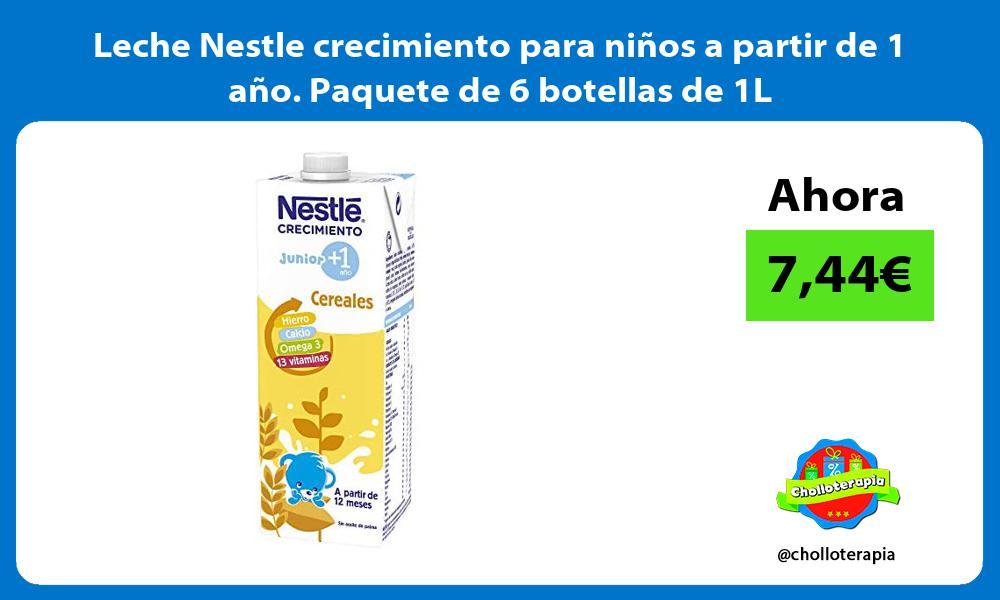 Leche Nestle crecimiento para niños a partir de 1 año Paquete de 6 botellas de 1L
