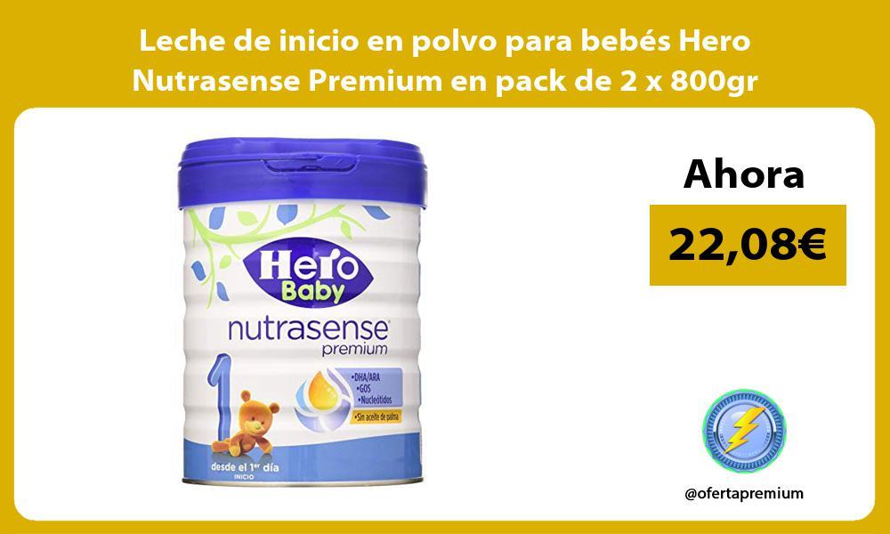 Leche de inicio en polvo para bebés Hero Nutrasense Premium en pack de 2 x 800gr