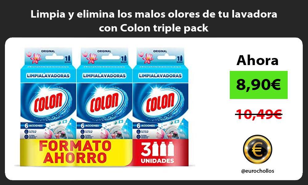 Limpia y elimina los malos olores de tu lavadora con Colon triple pack
