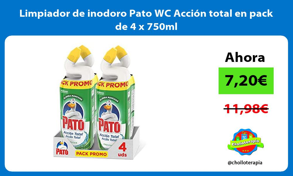 Limpiador de inodoro Pato WC Acción total en pack de 4 x 750ml