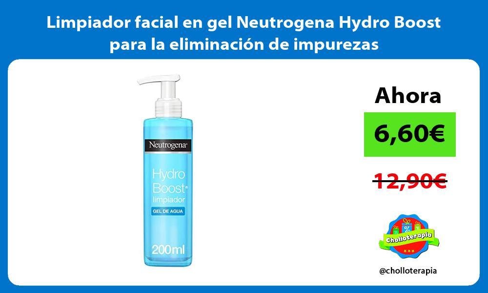 Limpiador facial en gel Neutrogena Hydro Boost para la eliminación de impurezas