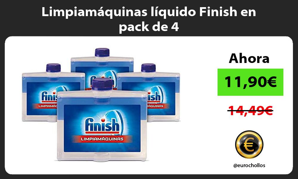 Limpiamáquinas líquido Finish en pack de 4