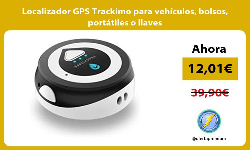 Localizador GPS Trackimo para vehículos bolsos portátiles o llaves