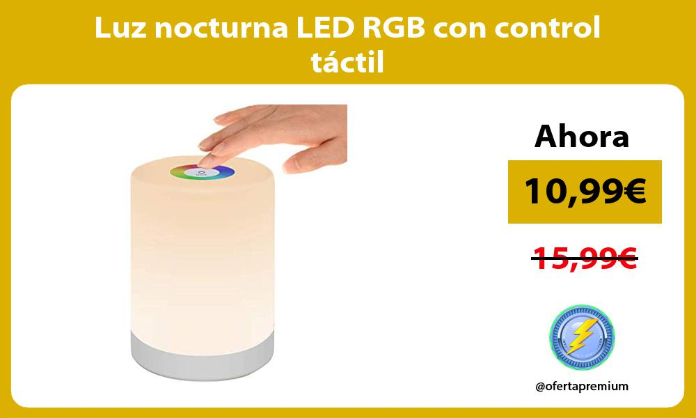 Luz nocturna LED RGB con control táctil