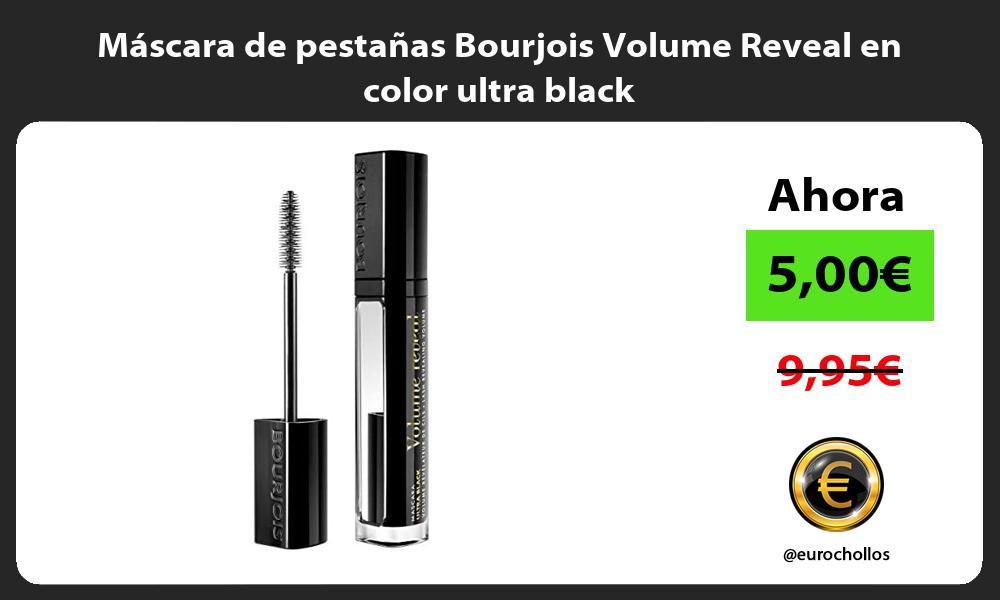 Máscara de pestañas Bourjois Volume Reveal en color ultra black