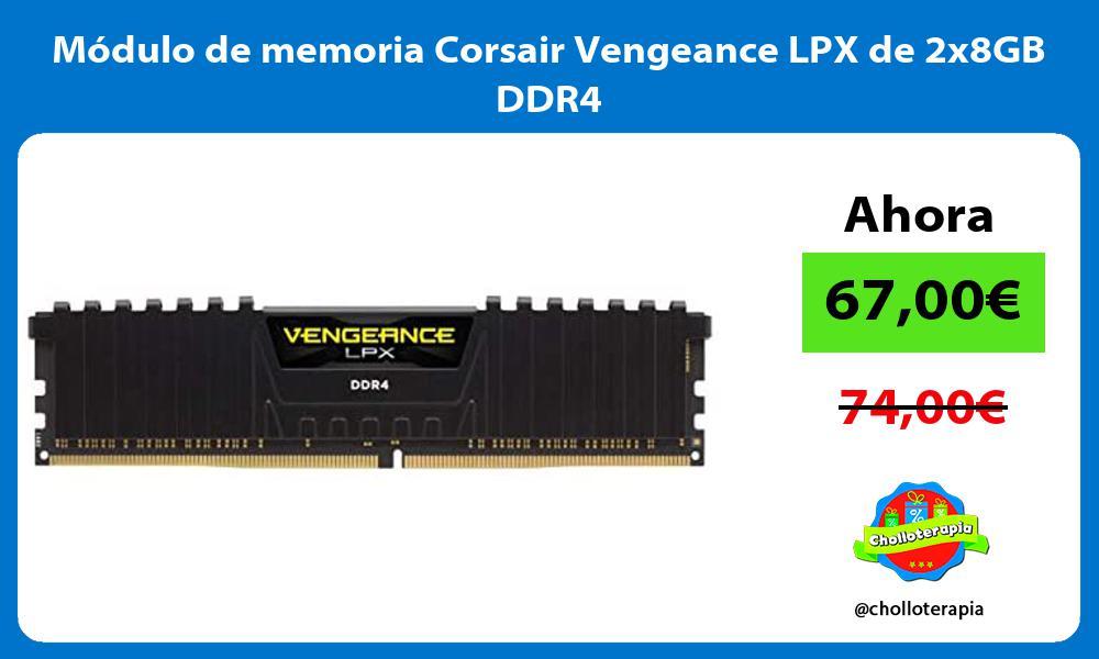 Módulo de memoria Corsair Vengeance LPX de 2x8GB DDR4
