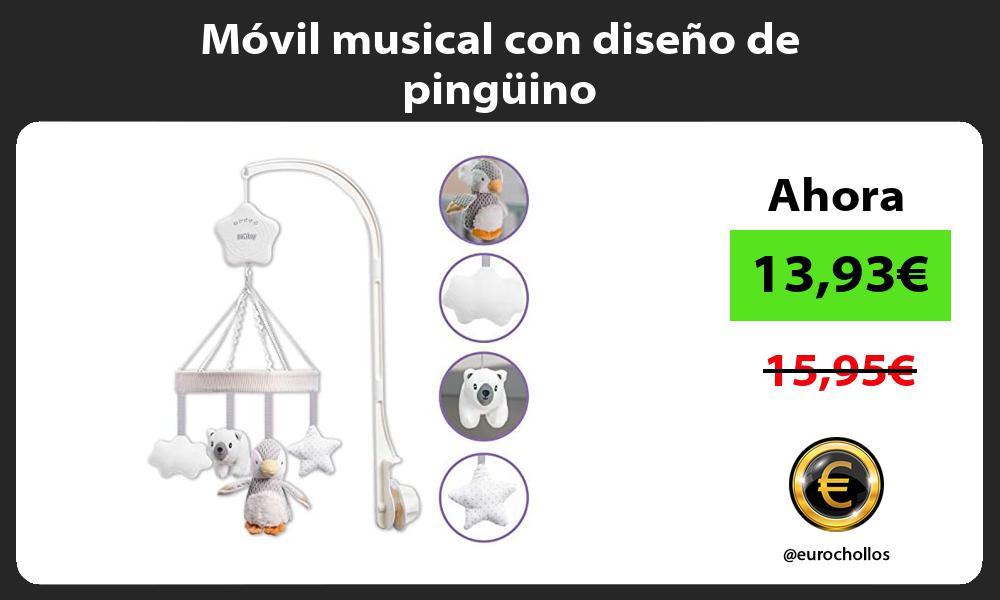 Móvil musical con diseño de pingüino