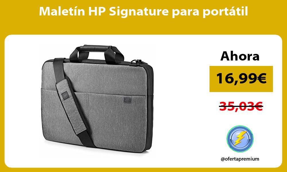 Maletín HP Signature para portátil