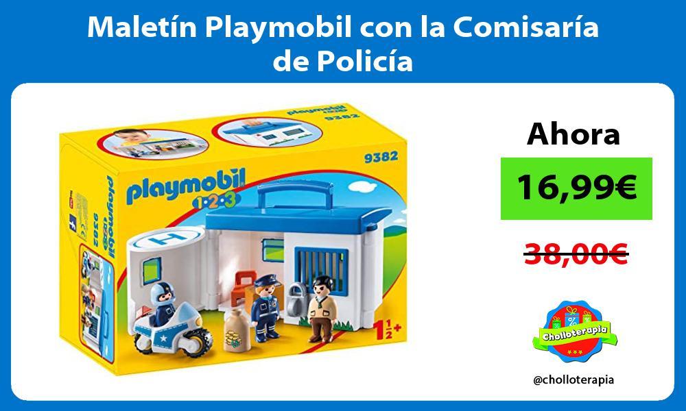Maletín Playmobil con la Comisaría de Policía
