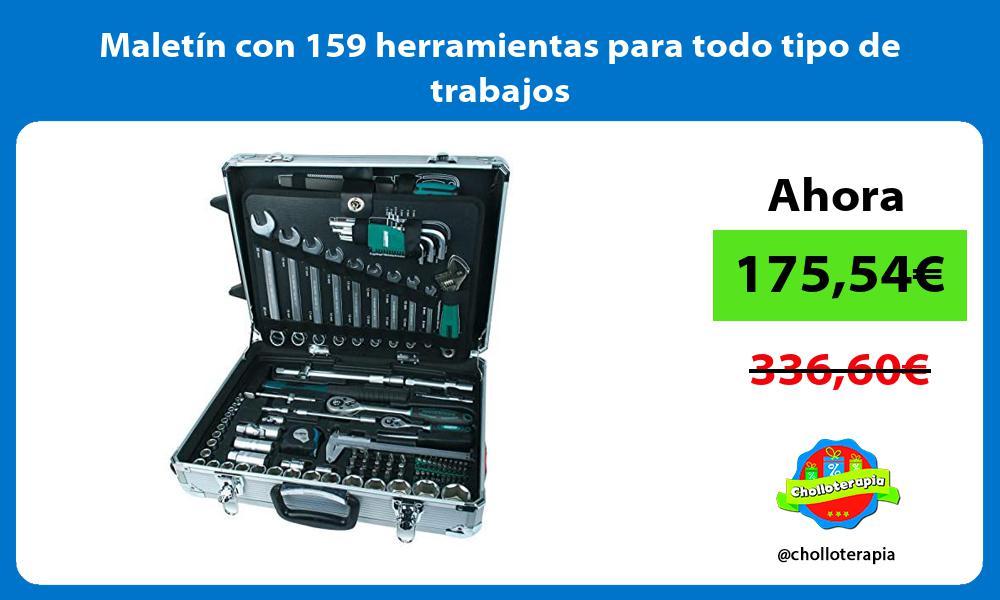Maletín con 159 herramientas para todo tipo de trabajos