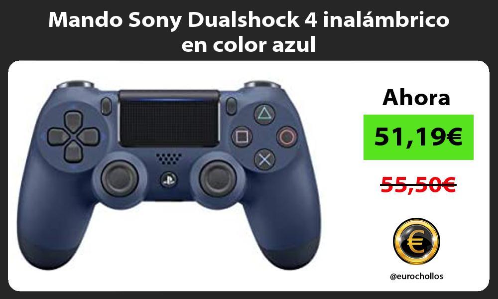 Mando Sony Dualshock 4 inalámbrico en color azul