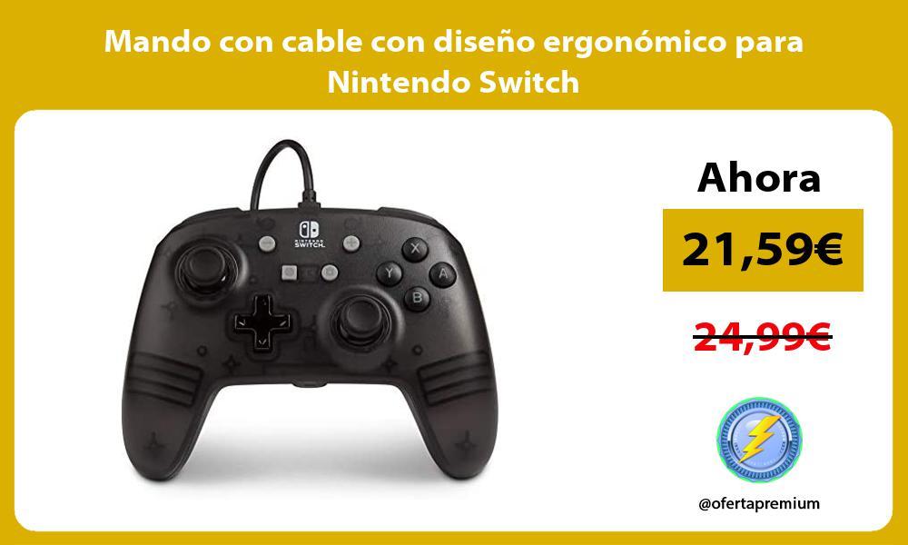 Mando con cable con diseño ergonómico para Nintendo Switch