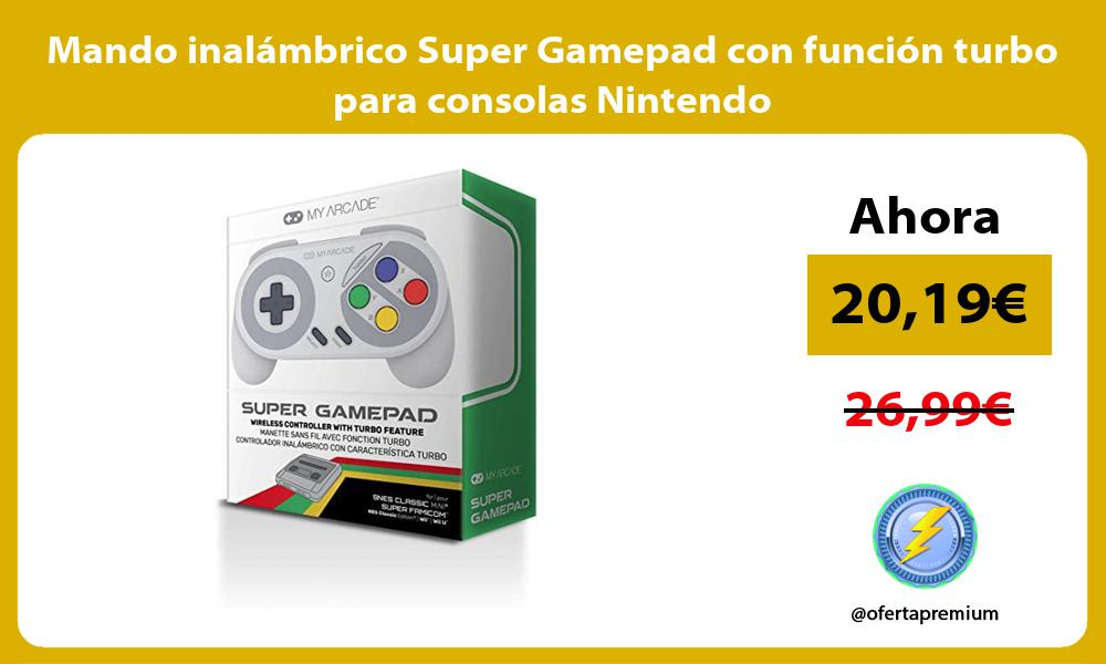 Mando inalámbrico Super Gamepad con función turbo para consolas Nintendo