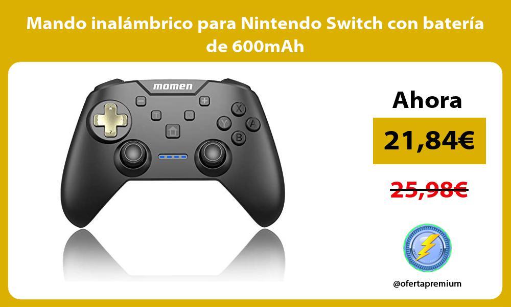 Mando inalámbrico para Nintendo Switch con batería de 600mAh