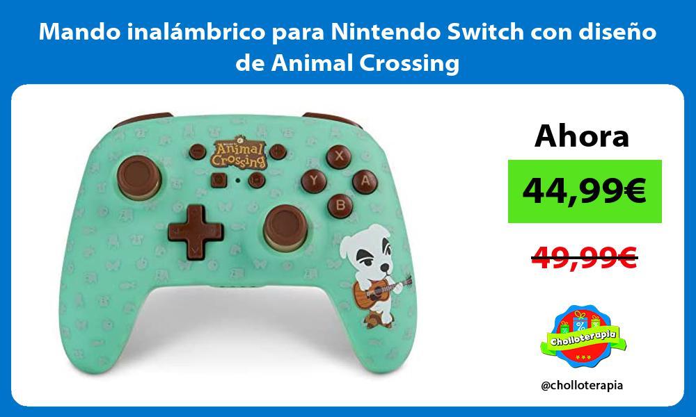Mando inalámbrico para Nintendo Switch con diseño de Animal Crossing