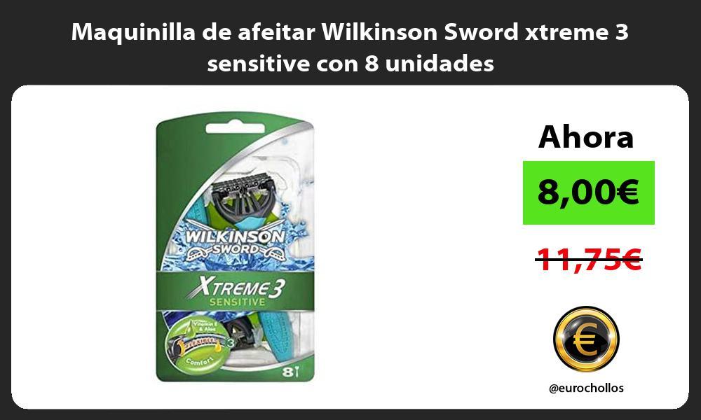 Maquinilla de afeitar Wilkinson Sword xtreme 3 sensitive con 8 unidades