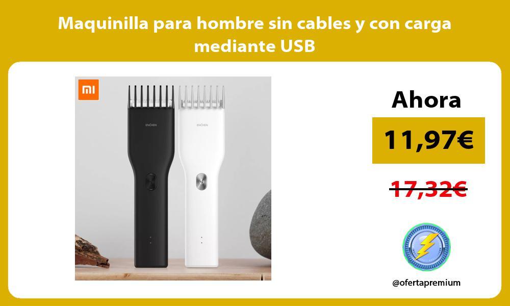 Maquinilla para hombre sin cables y con carga mediante USB