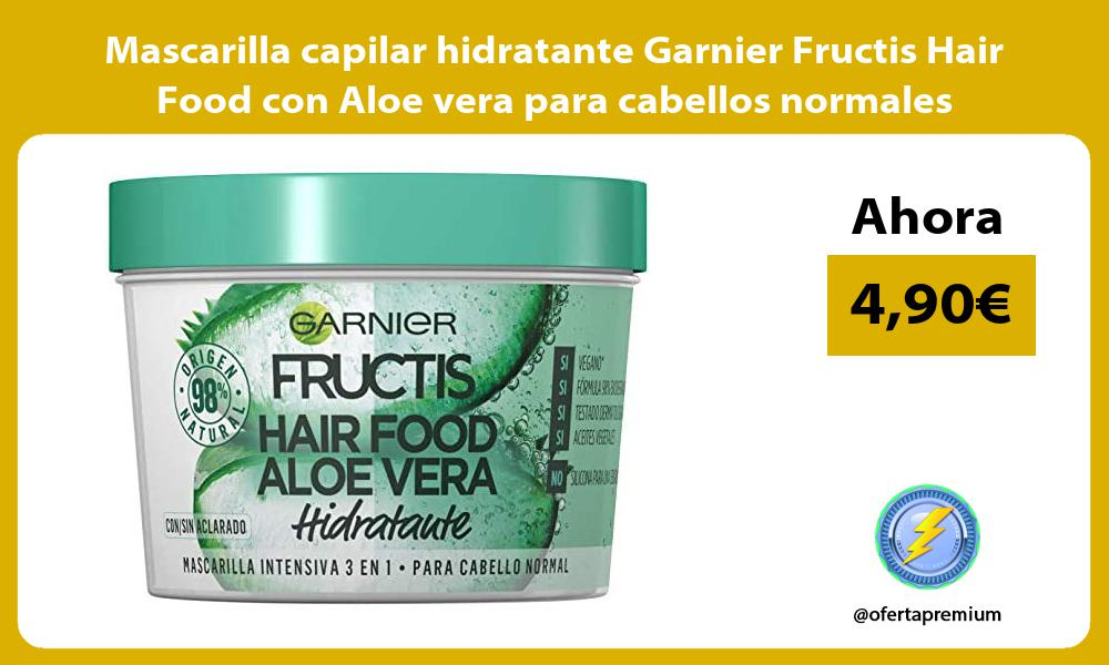 Mascarilla capilar hidratante Garnier Fructis Hair Food con Aloe vera para cabellos normales