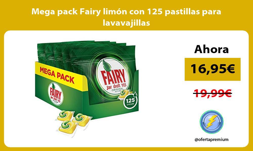 Mega pack Fairy limón con 125 pastillas para lavavajillas