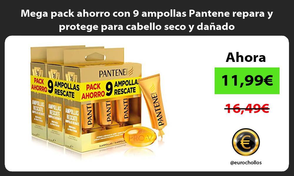 Mega pack ahorro con 9 ampollas Pantene repara y protege para cabello seco y dañado