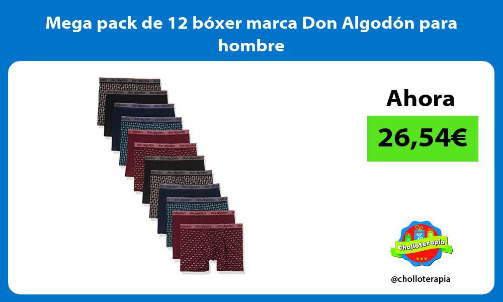 Mega pack de 12 bóxer marca Don Algodón para hombre