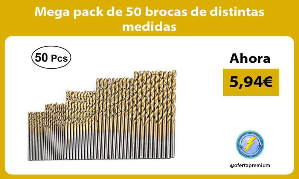 Mega pack de 50 brocas de distintas medidas