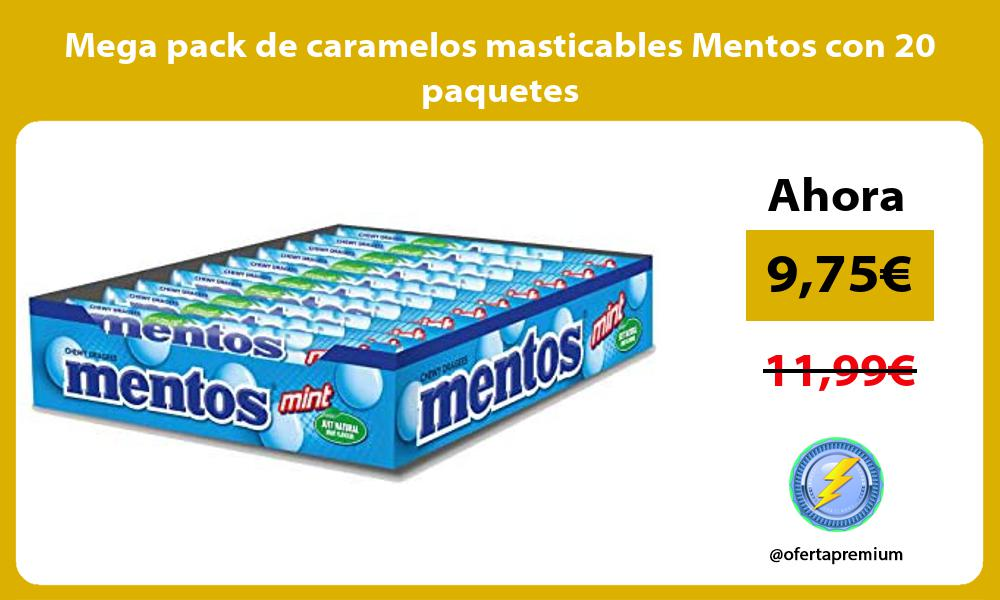 Mega pack de caramelos masticables Mentos con 20 paquetes