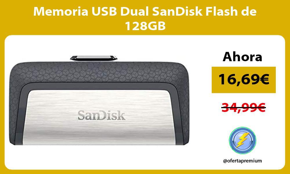 Memoria USB Dual SanDisk Flash de 128GB