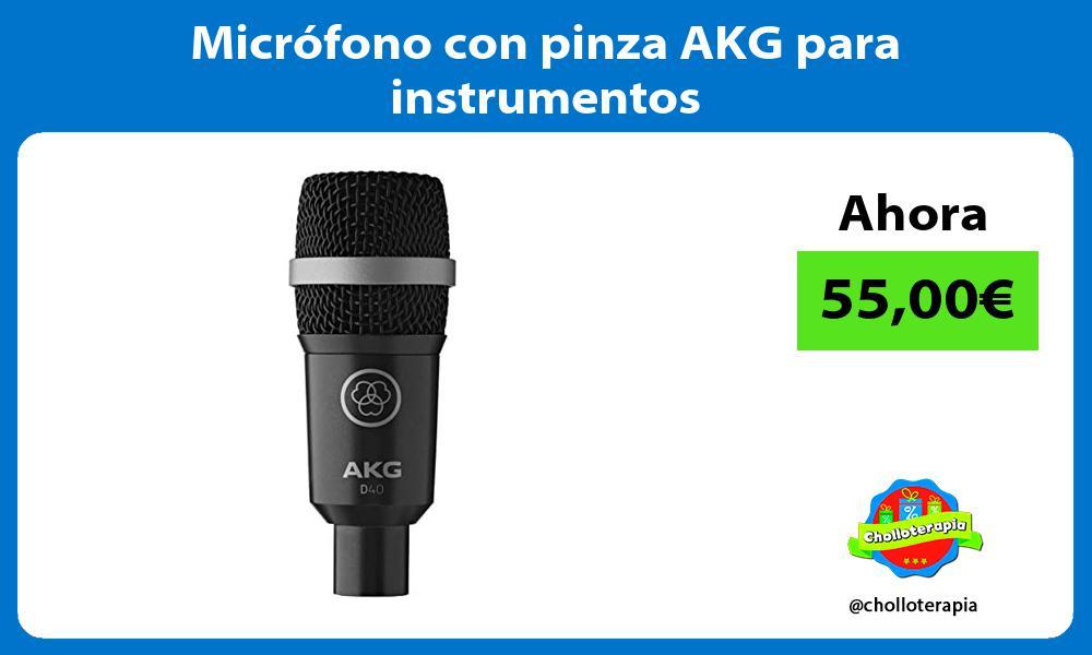 Micrófono con pinza AKG para instrumentos