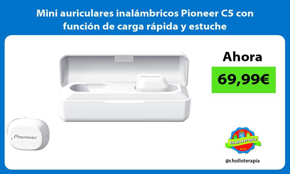 Mini auriculares inalámbricos Pioneer C5 con función de carga rápida y estuche