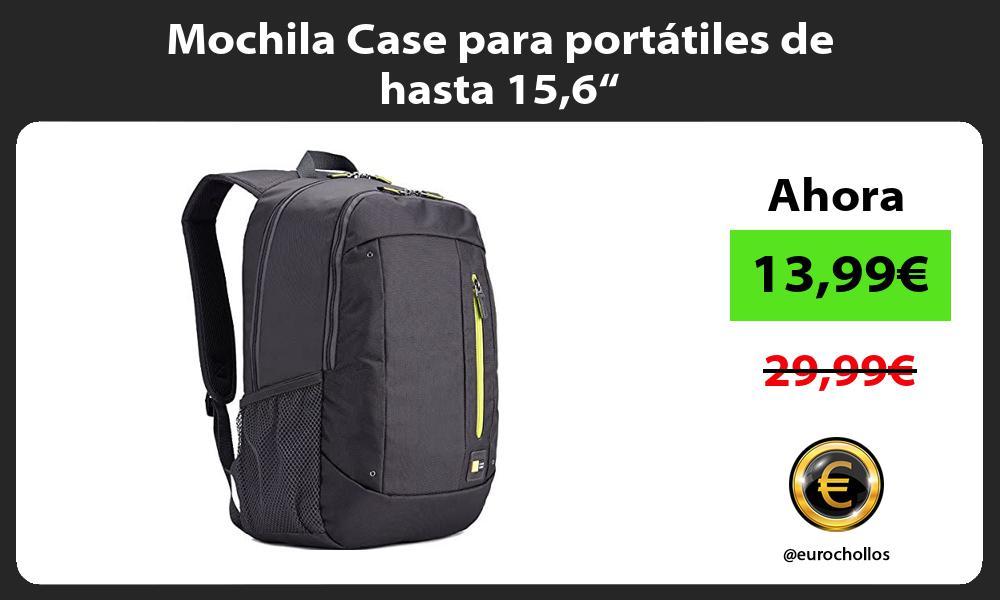 "Mochila Case para portátiles de hasta 156"""
