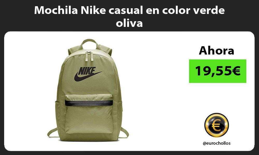 Mochila Nike casual en color verde oliva