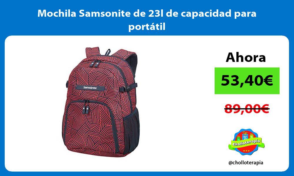Mochila Samsonite de 23l de capacidad para portátil