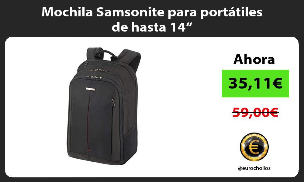"Mochila Samsonite para portátiles de hasta 14"""